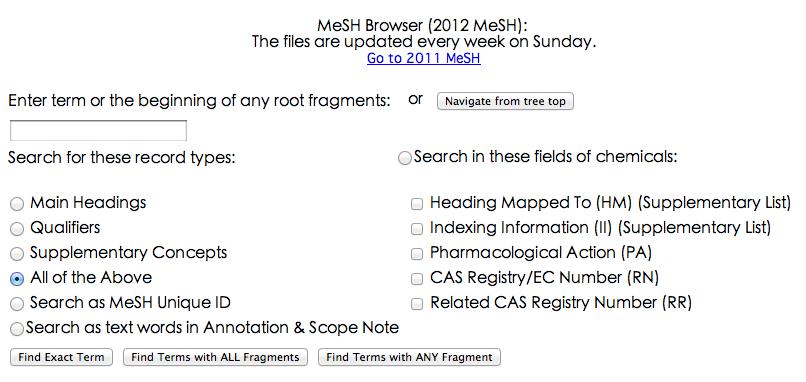 http://www.nlm.nih.gov/mesh/MBrowser.html